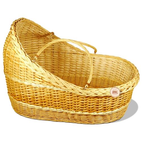 Люлька для новорожденных плетеная ивовая лоза натуральный