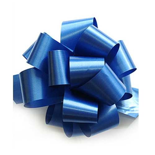 Бант-шар синтетическая лента синий