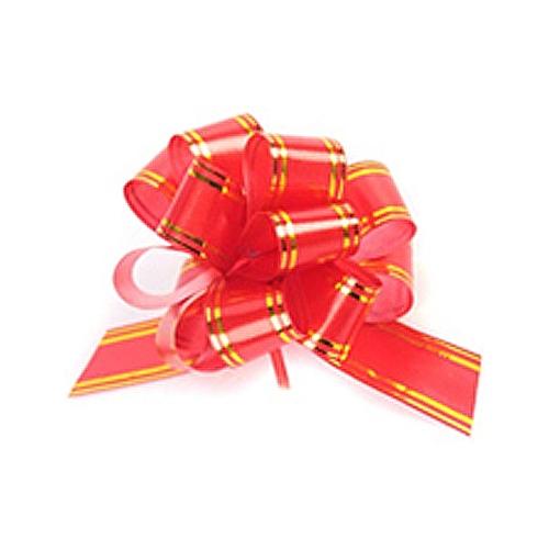 Бант-шар синтетическая лента красный