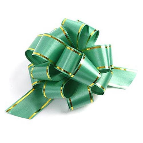 Бант-шар синтетическая лента зеленый