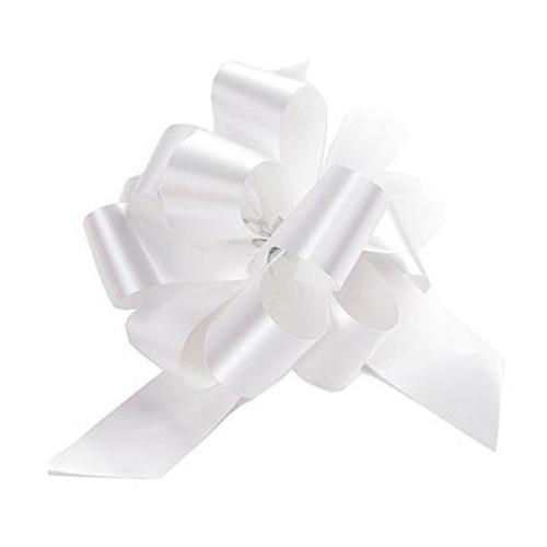 Бант-шар синтетическая лента белый