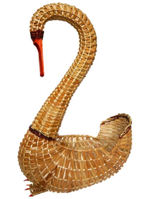 Лебедь плетеный ивовая лоза натуральный