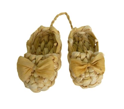 Лапти плетеные маленькие ивовая лоза натуральный