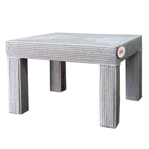 Кофейный столик ротанг светло-серый, беленый