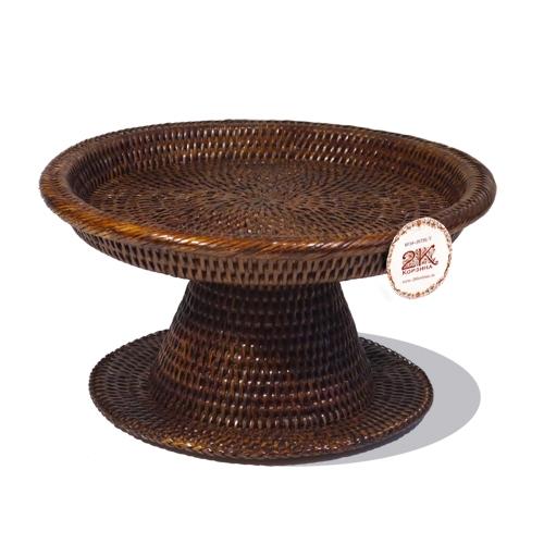 Подставка для закусок ротанг темно-коричневый