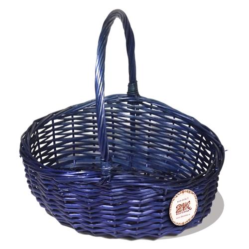 Корзина плетеная из ивовой лозы №2 ивовая лоза синий