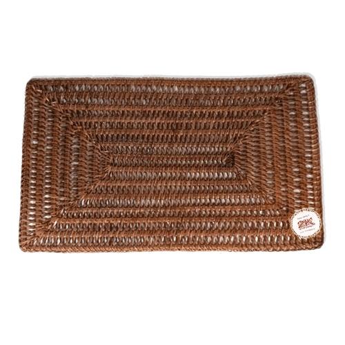 Прямоугольная подложка под посуду ротанг темно-коричневый