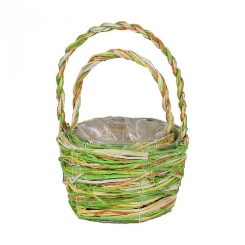 Набор корзин для флористики ротанг салатовый
