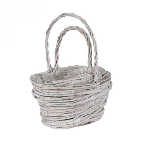 Набор корзин для флористики ротанг светлый (прованс)
