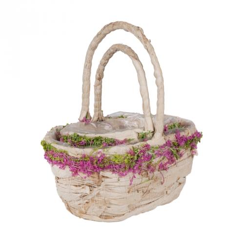 Набор корзин для флористики кукуруза и сухоцветы светлый
