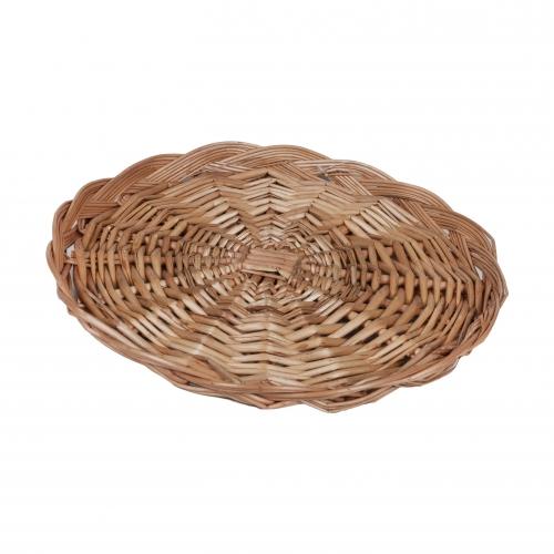 Круглый плетенный лоток №1 ивовая лоза натуральный