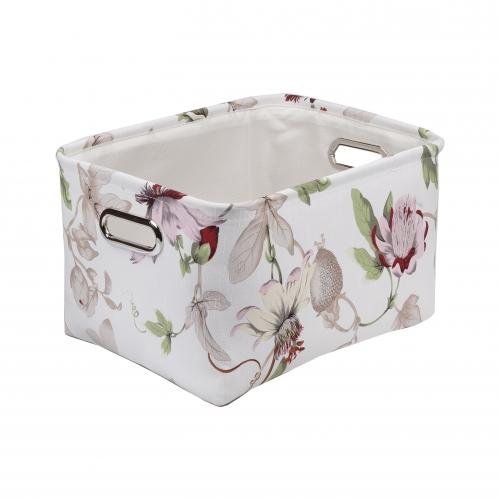 Текстильный короб для хранения №4 текстиль белый