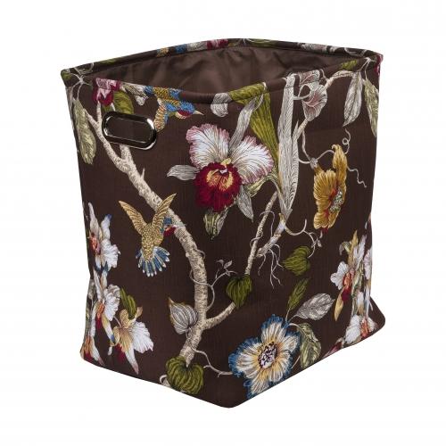 Текстильный короб для хранения №1 текстиль темно-коричневый