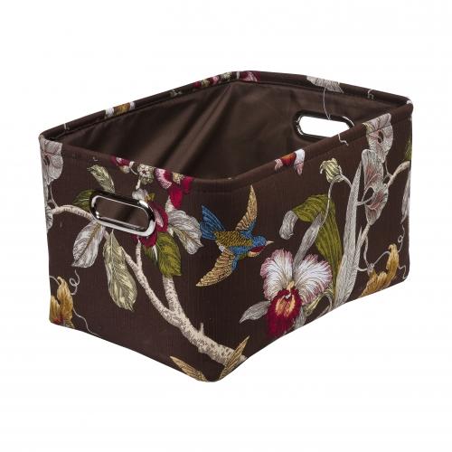Текстильный короб для хранения №3 текстиль темно-коричневый