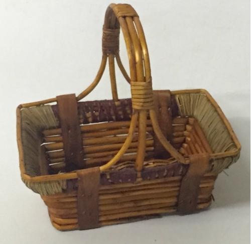 Корзина плетеная из ивовой лозы №3 лоза коричневый