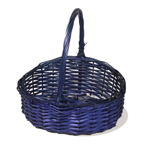 Корзина плетеная из ивовой лозы №1 ивовая лоза синий