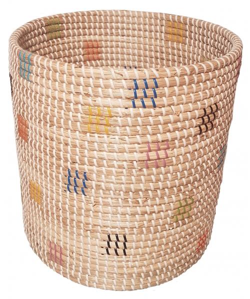 Корзина плетеная №2 ротанговая трава,искусственный ротанг мультиколор