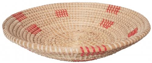Блюдо плетеное №2 ротанговая трава,искусственный ротанг мультиколор