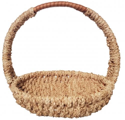 Корзина плетеная №3 ивовая лоза, бечева натуральный