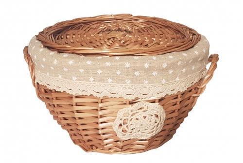 Корзина плетеная из ивовой лозы №2 ивовая лоза натуральный