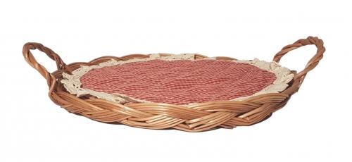 Поднос плетеный ивовая лоза натуральный