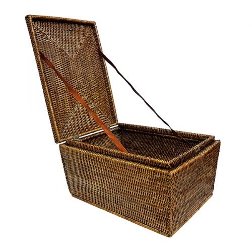 Плетеный сундук ротанг коричневый