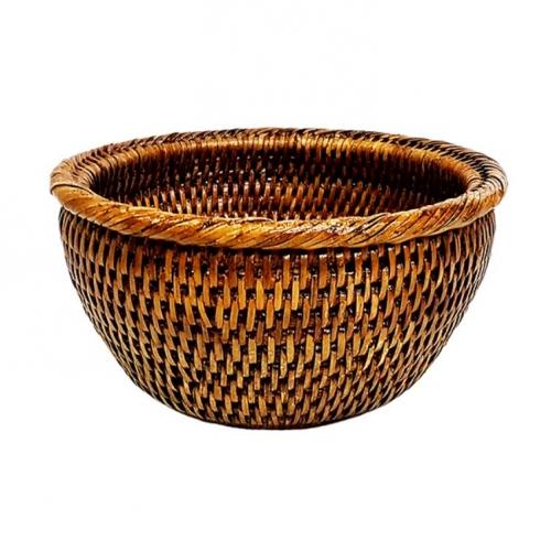 Салатница плетеная ротанг коричневый