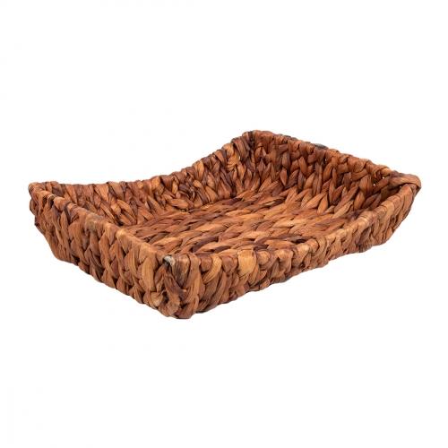 Плетеный поднос №3 ротанг коричневый