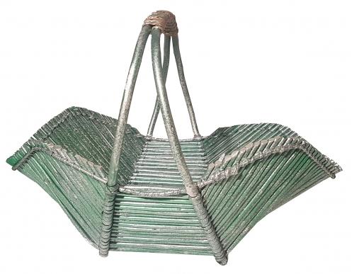 Корзина плетеная из ивовой лозы №3 прут зеленый