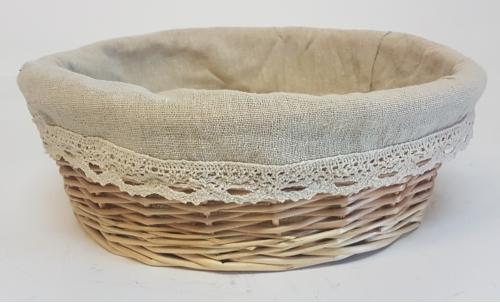 Корзина плетеная из ивовой лозы №3 лоза и ткань натуральный