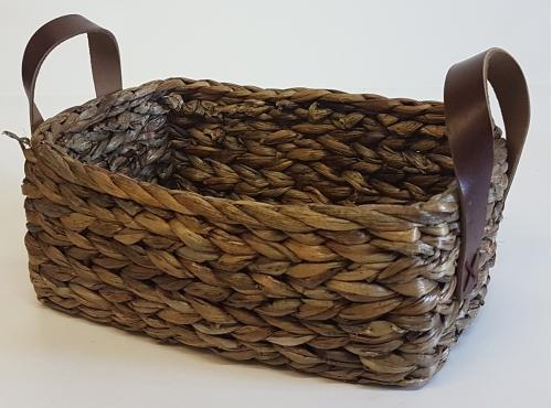 Корзина плетеная №1 водный гиацинт коричневый