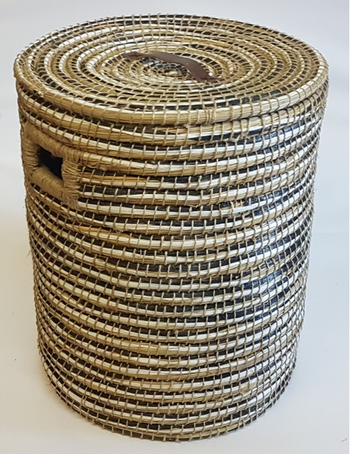 Плетеная корзина № 4 трава каиса мультиколор