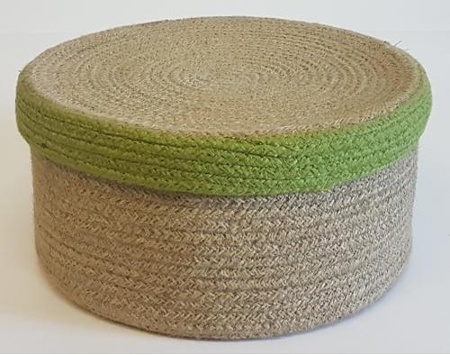 Корзина плетеная №1 джутовая веревка натуральный