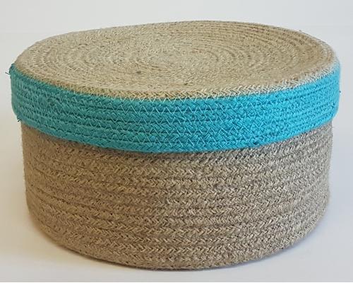 Корзина плетеная №2 джутовая веревка натуральный