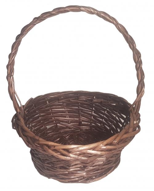 Корзина плетеная из ивовой лозы №1 ивовая лоза коричневый