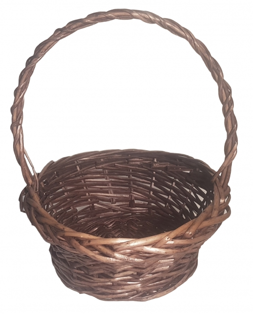 Корзина плетеная из ивовой лозы №2 ивовая лоза коричневый