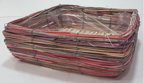 Кашпо плетеное №1 лоза, полиэтилен мультиколор