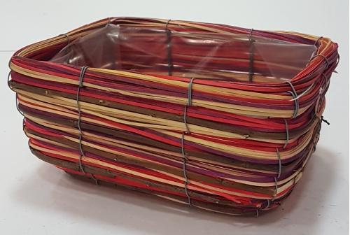 Кашпо плетеное №2 лоза, полиэтилен мультиколор