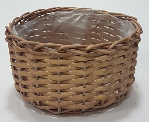Кашпо плетеное №2 лоза, полиэтилен натуральный