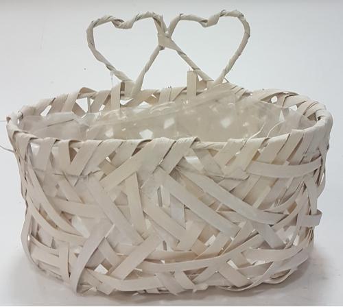 Кашпо плетеное №3 лоза, полиэтилен белый