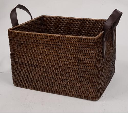 Корзина для хранения №1 ротанг коричневый