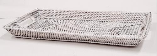 Поднос плетеный №2 ротанг белый