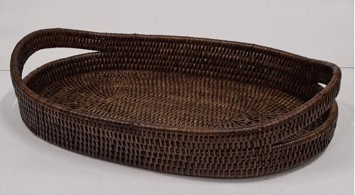 Поднос плетеный №2 ротанг коричневый