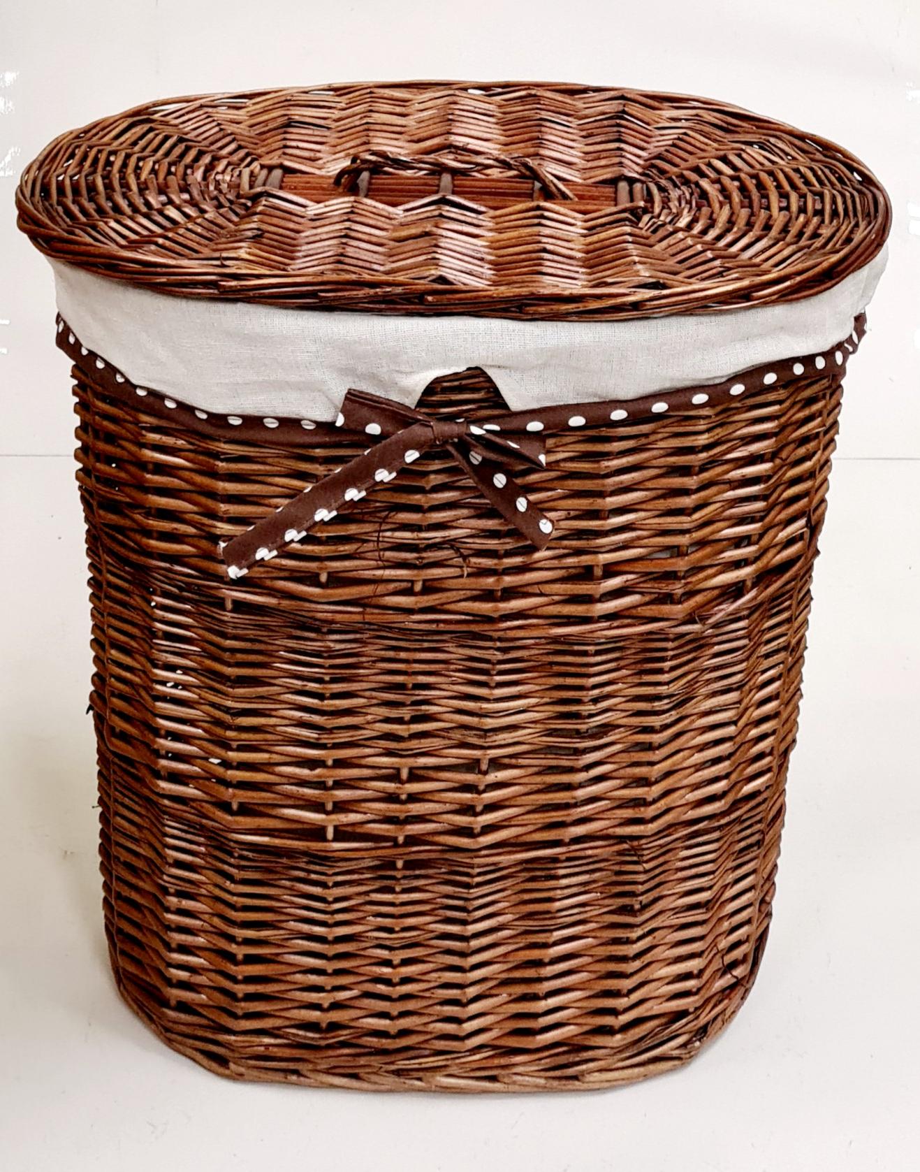 Корзина для белья №2 ивовая лоза коричневый