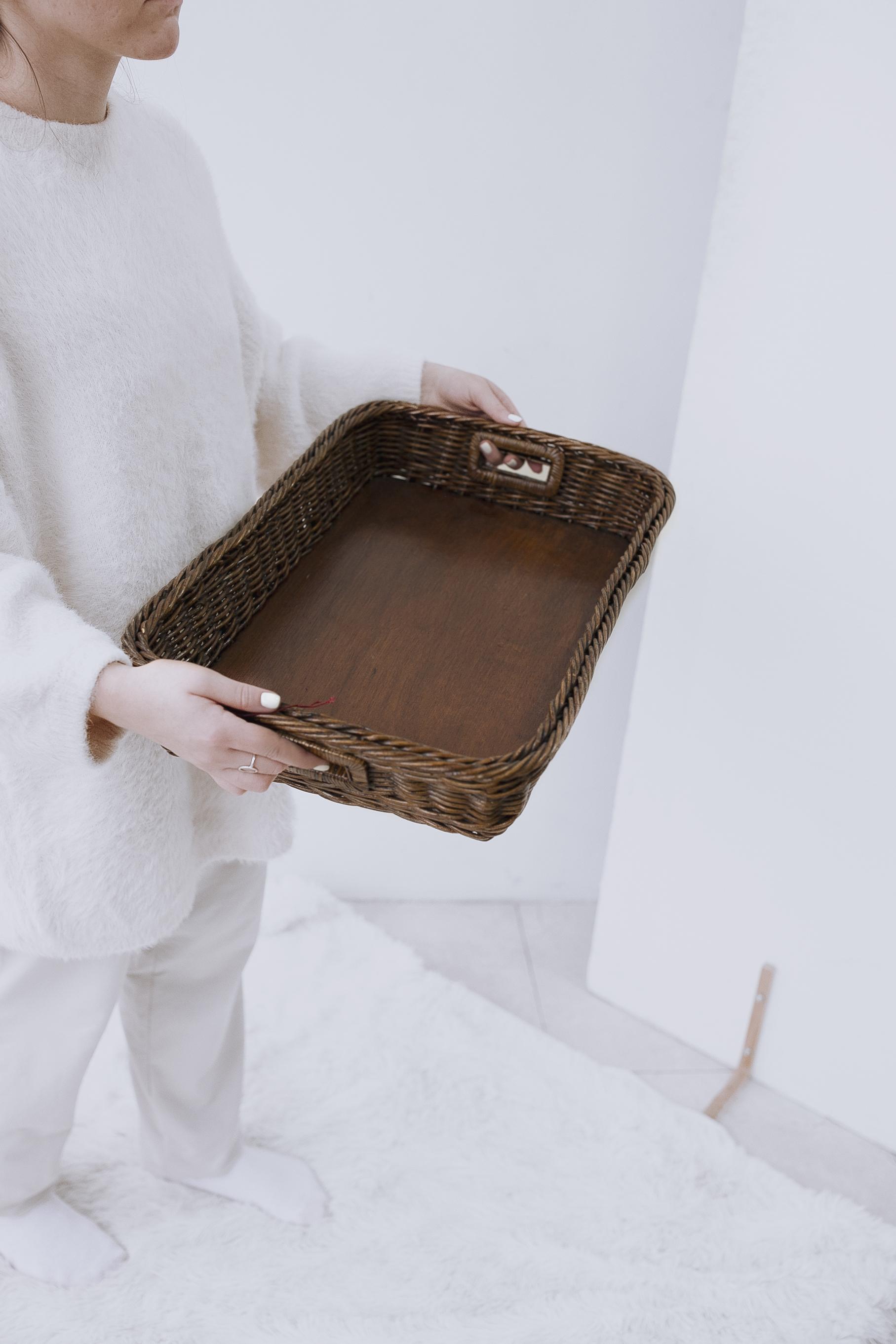 Лоток плетеный №2 натуральный ротанг коричневый
