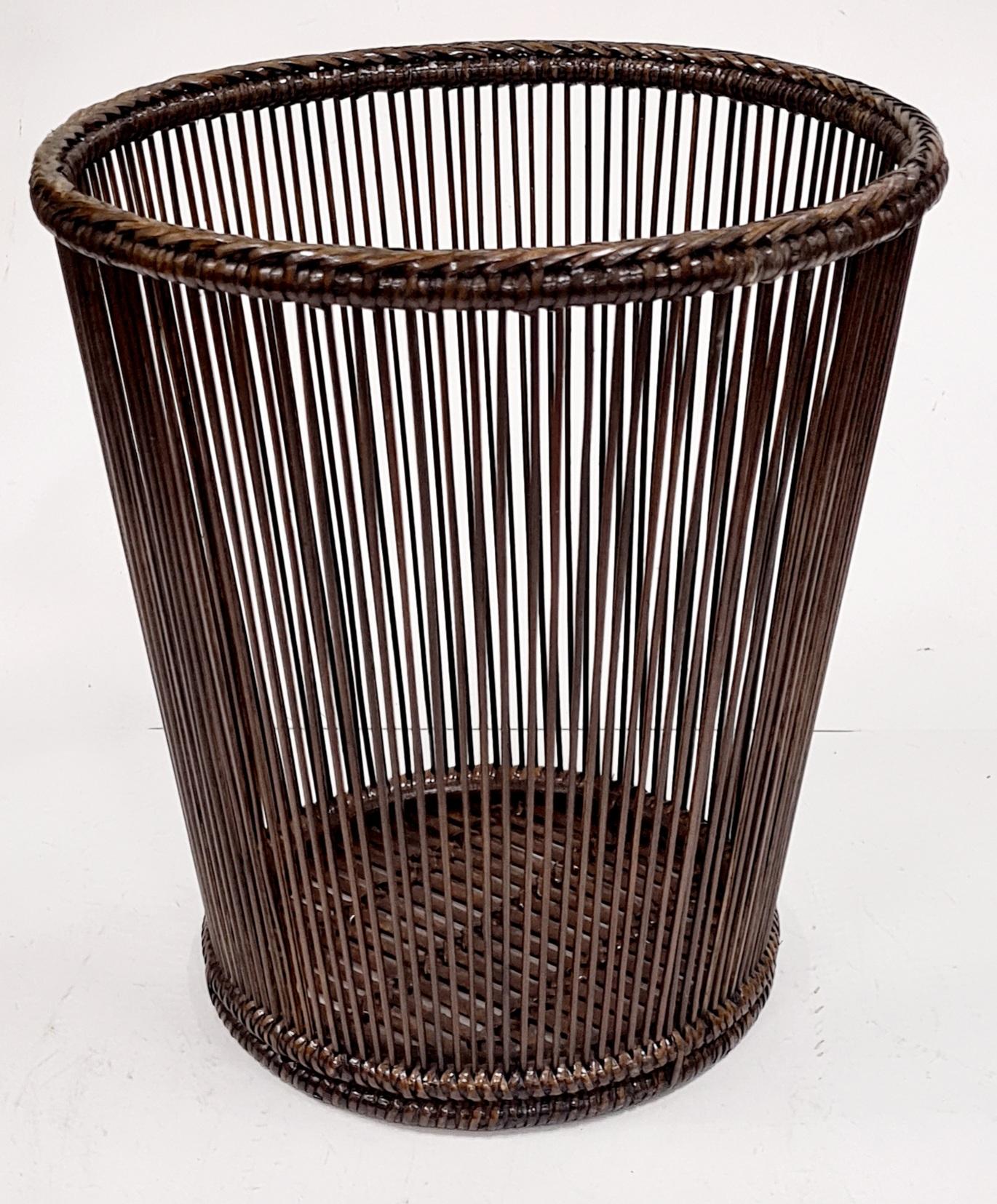 Корзина для мусора натуральный ротанг коричневый