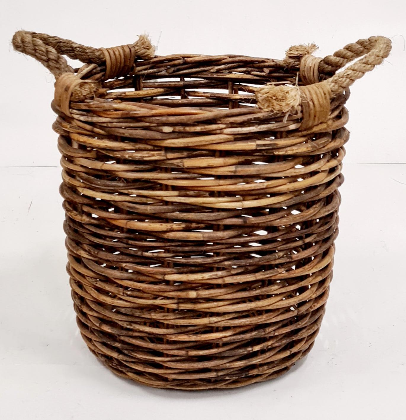 Корзина д/хранения №3 натуральный ротанг коричневый, натуральный