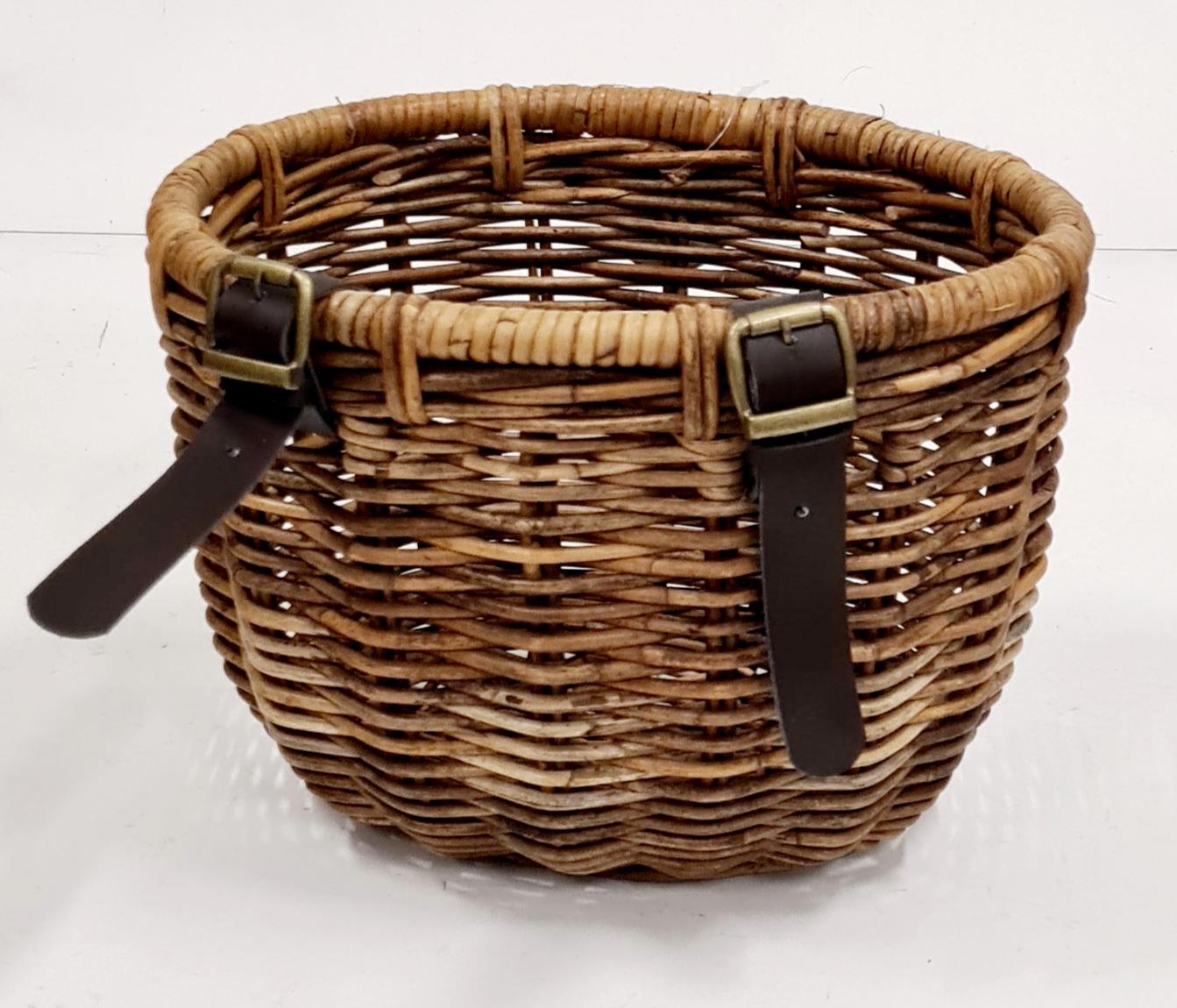 Корзина д/велосипеда ротанг коричневый, натуральный
