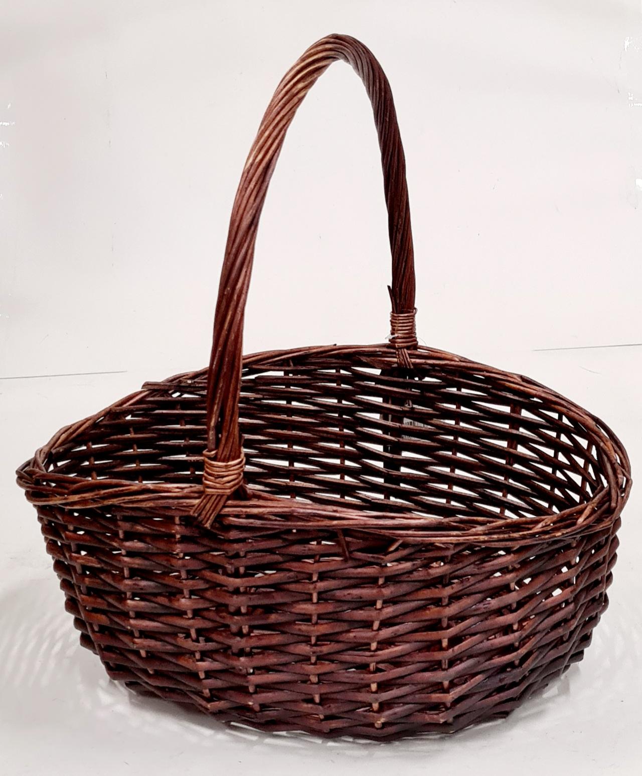 Корзина плетеная из ивовой лозы №3 ивовая лоза коричневый
