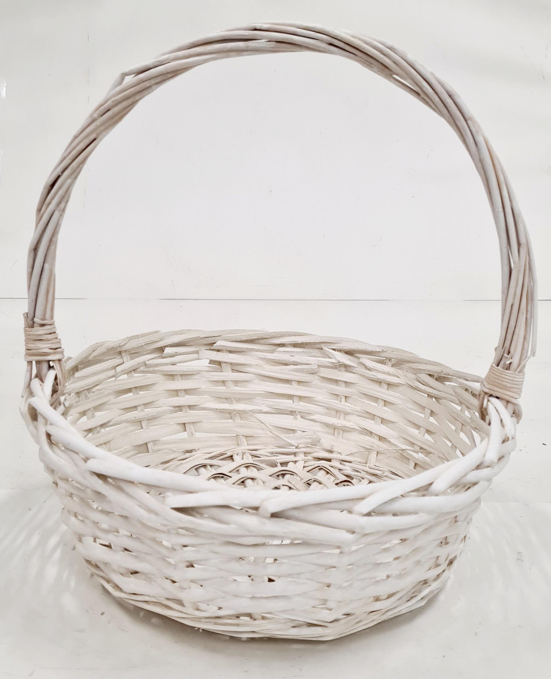 Корзина плетеная из ивовой лозы №1 ивовая лоза белый